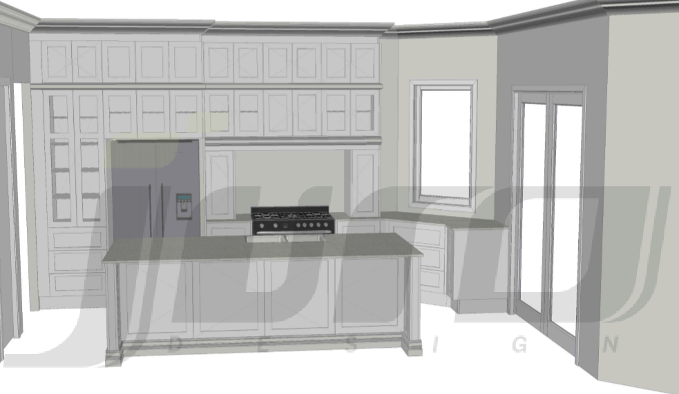 First kitchen design by Juro