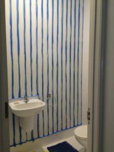Kids toilet wall stripes tape