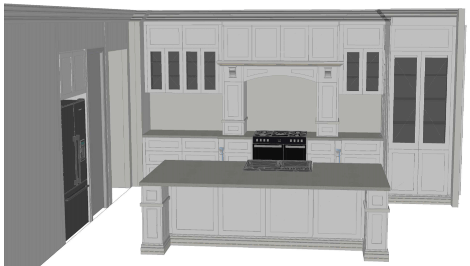 Final kitchen design by Juro