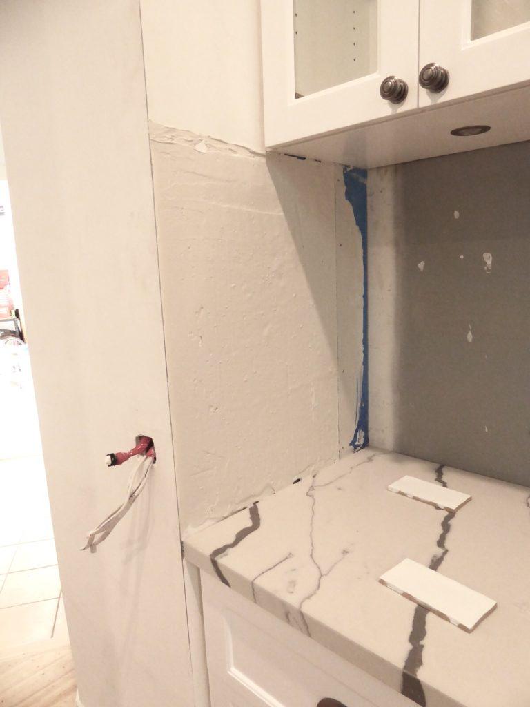 before tile detail kitchen