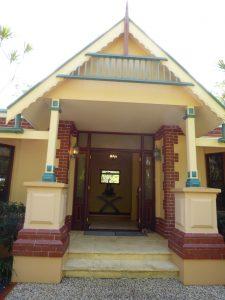 original exterior entry of the house