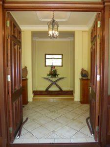 original exterior and interior entry of the house