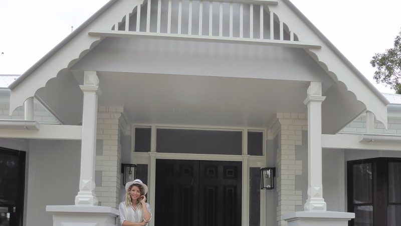 front door exterior and interior entry after renovation design by danni