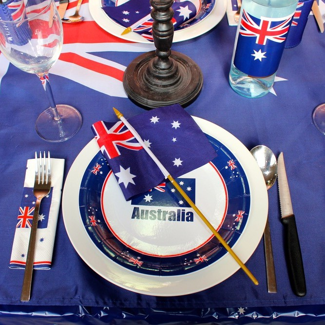Australian Style Christmas Day table setting