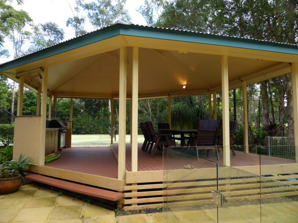 Renovating a colonial gazebo into a Hampton's x Caribbean style pool