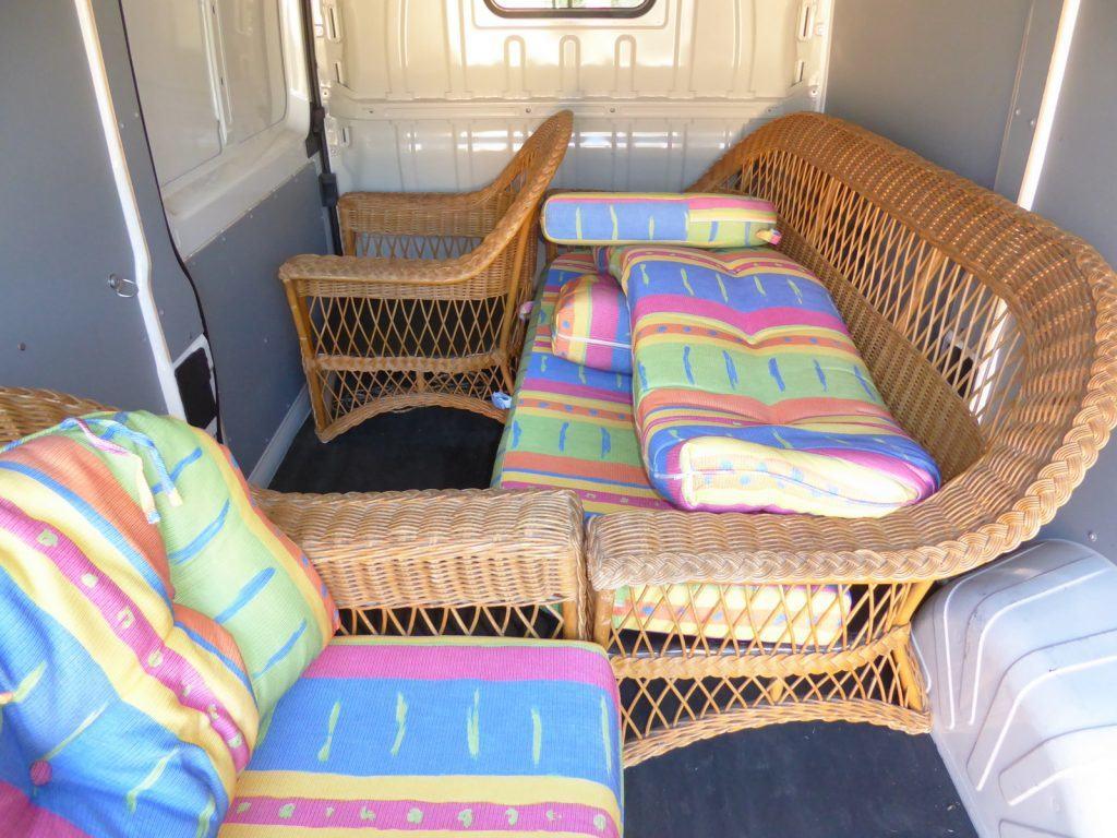 original outdoor lounge in van