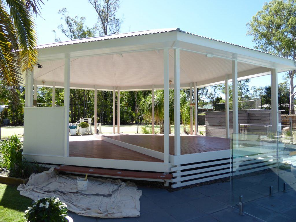3139e685277 Renovating a colonial gazebo into a Hampton s x Caribbean style pool ...