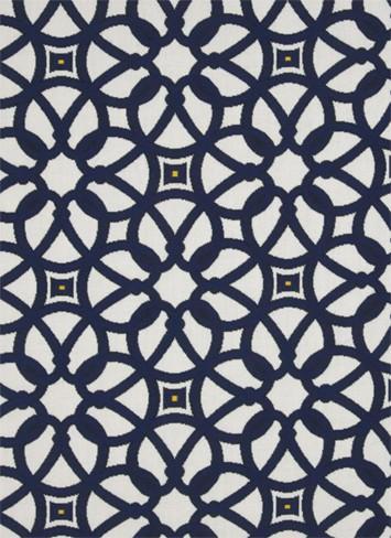 Luxe outdoor fabric Indigo Gazebo post