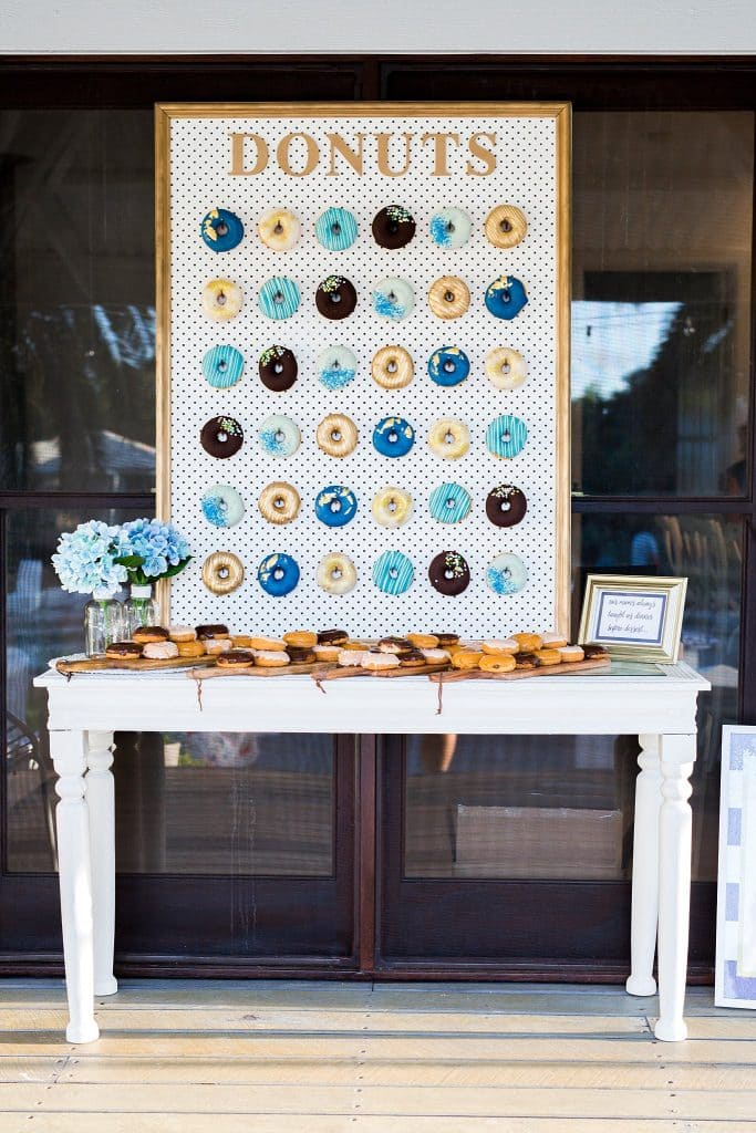 engagement party donut wall detail