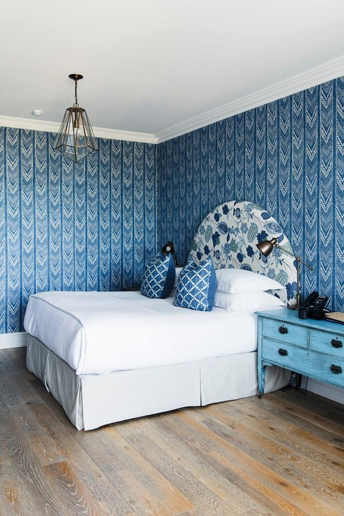 a bespoke guest room at halcyon house