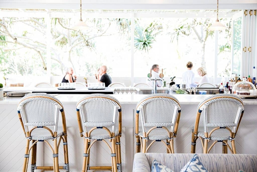 the halcyon house bar and stool on byron bay getaway