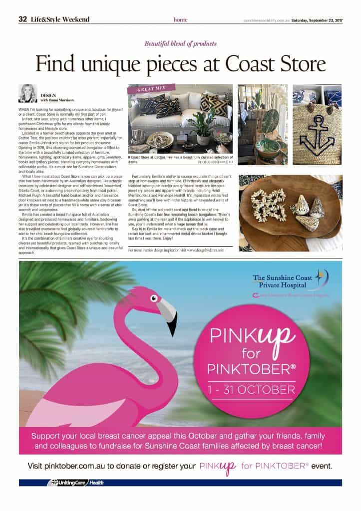 Find unique pieces at coast store press features sunshine coast daily page