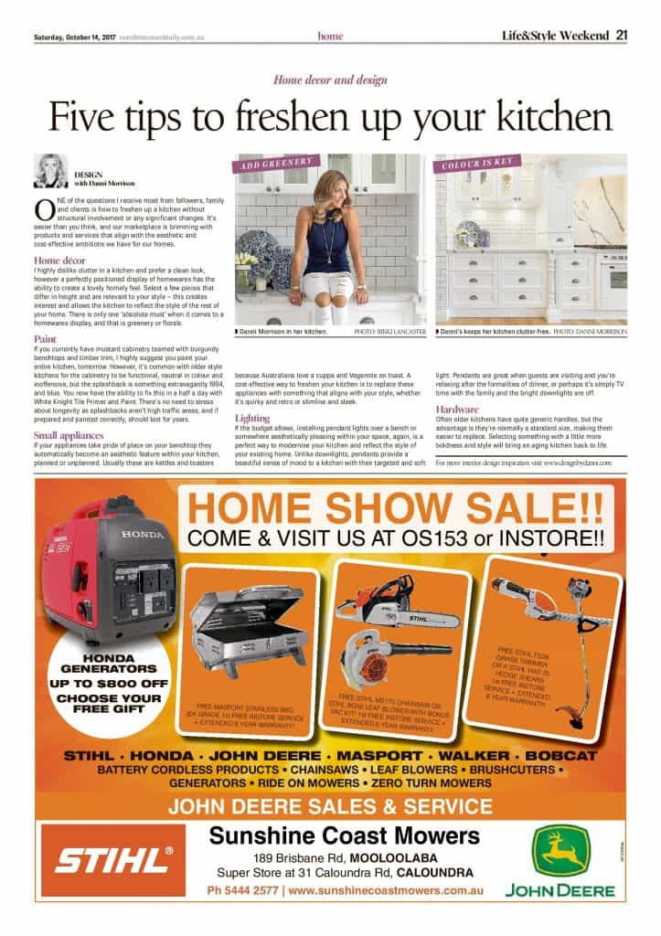 5 tips to freshen up your kitchen press features sunshine coast daily article