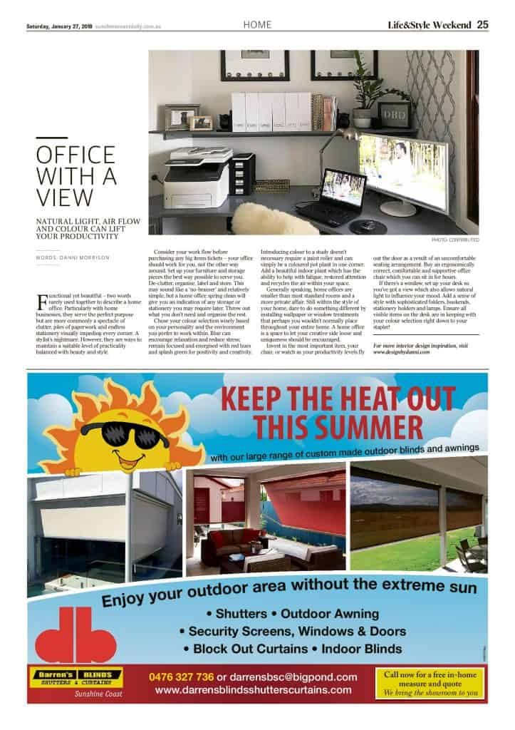 The Sunshine Coast Daily weekend edition Life and Style magazine - Office with a view
