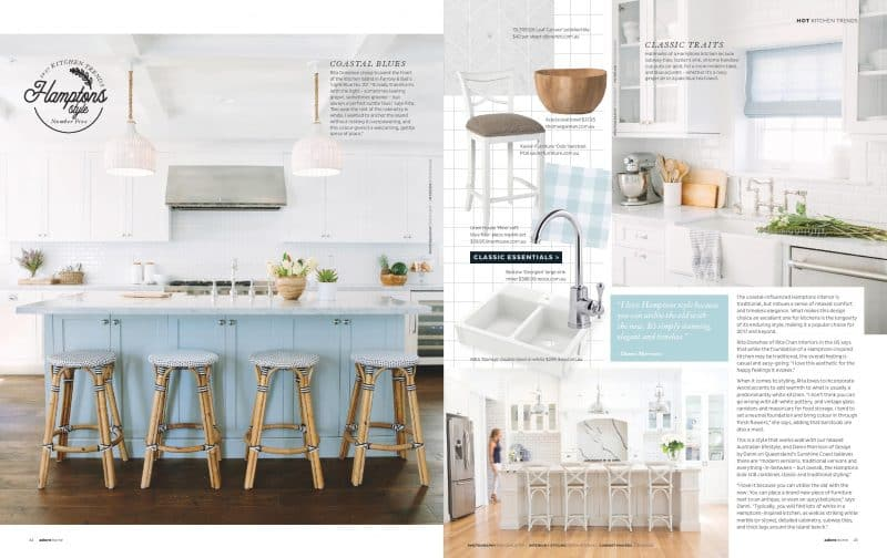 adore magazine hamptons kitchen