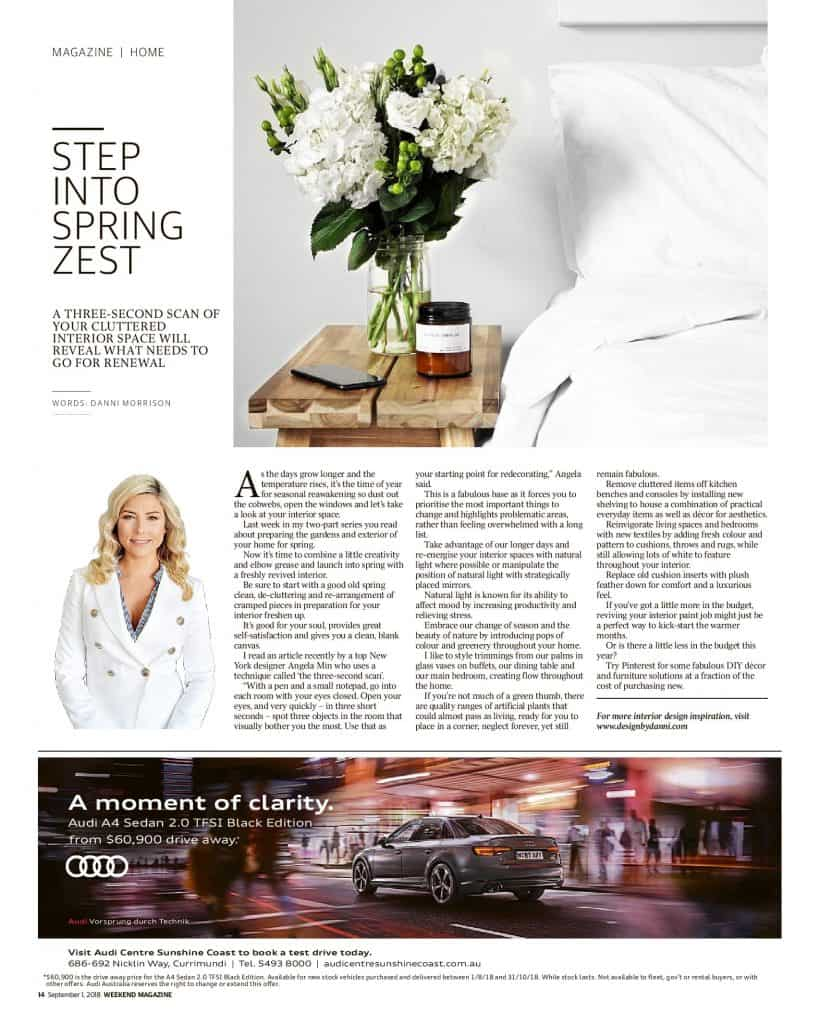 The Sunshine Coast Daily weekend edition Life and Style magazine - Step into Spring Zest