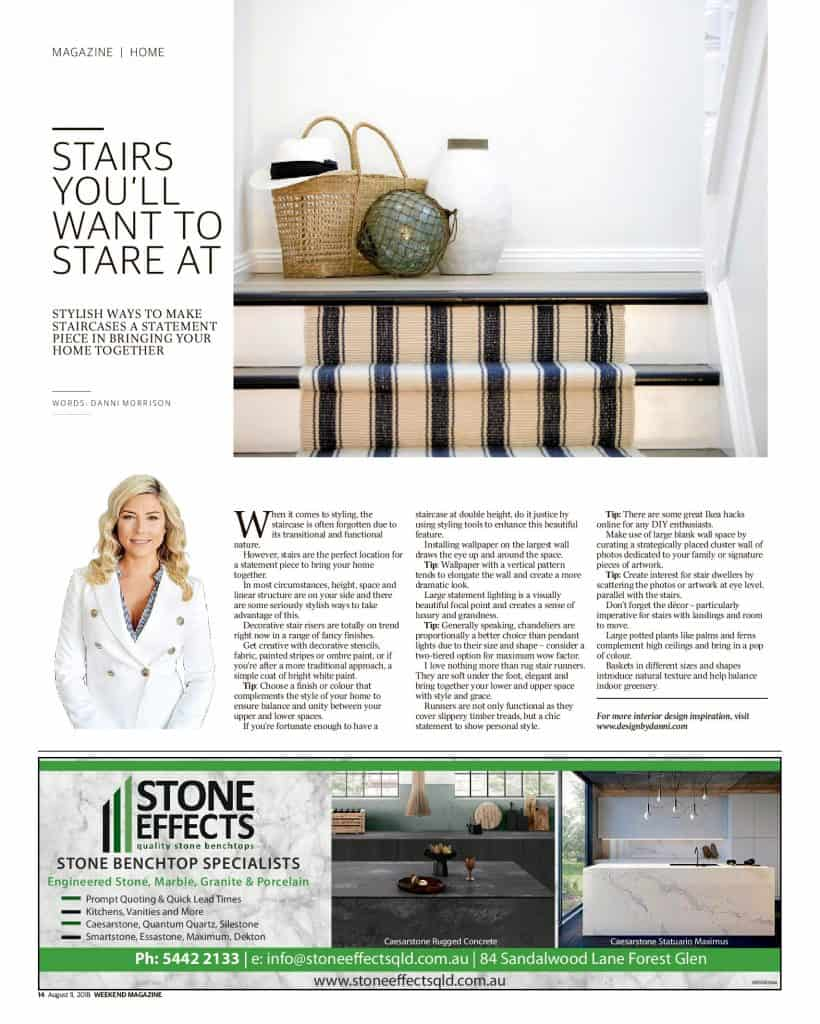 The Sunshine Coast Daily weekend edition Life and Style magazine - stairs you'll want to stare at