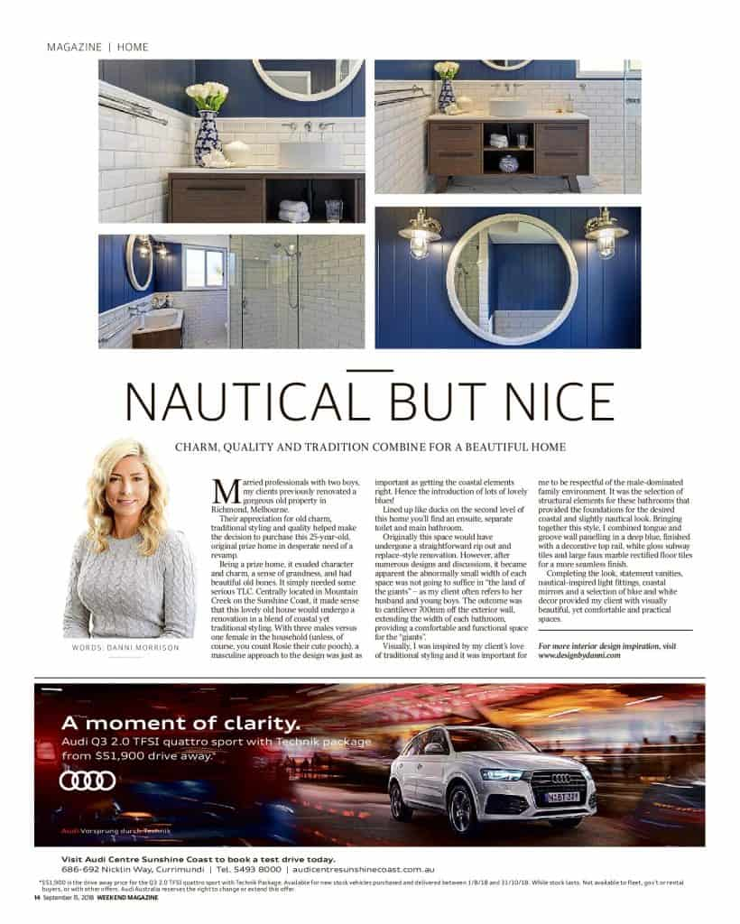 The Sunshine Coast Daily weekend edition Life and Style magazine - Nautical but nice