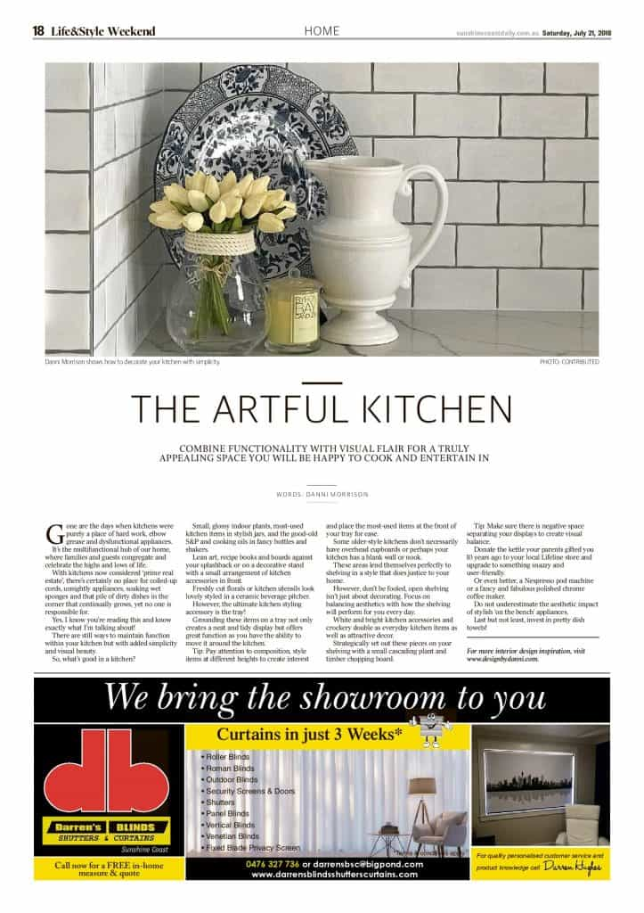 The Sunshine Coast Daily weekend edition Life and Style magazine - The artful kitchen