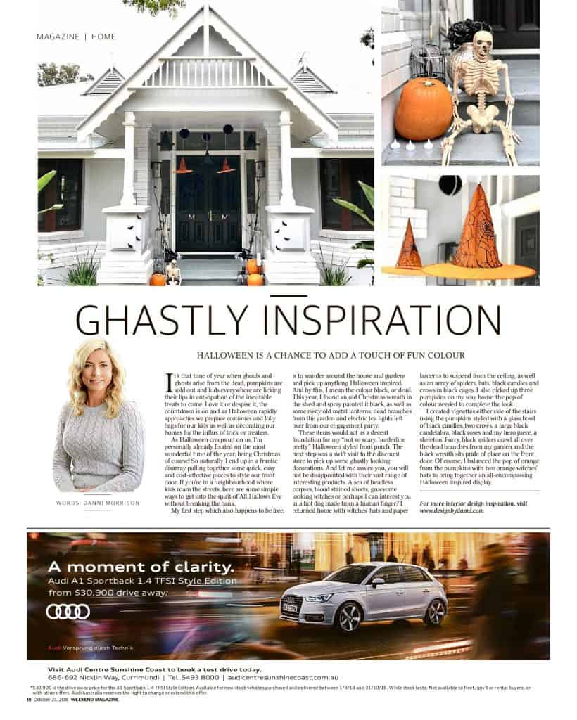 The Sunshine Coast Daily weekend edition Life and Style magazine - Ghastly Inspiration
