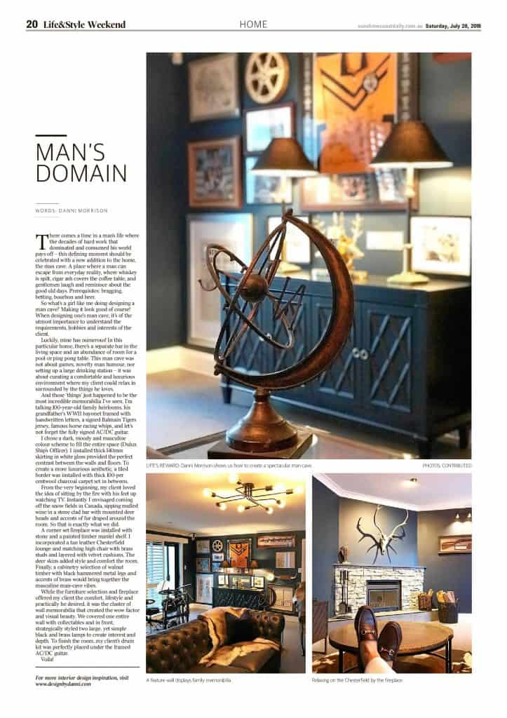 The Sunshine Coast Daily weekend edition Life and Style magazine - Man's Domain