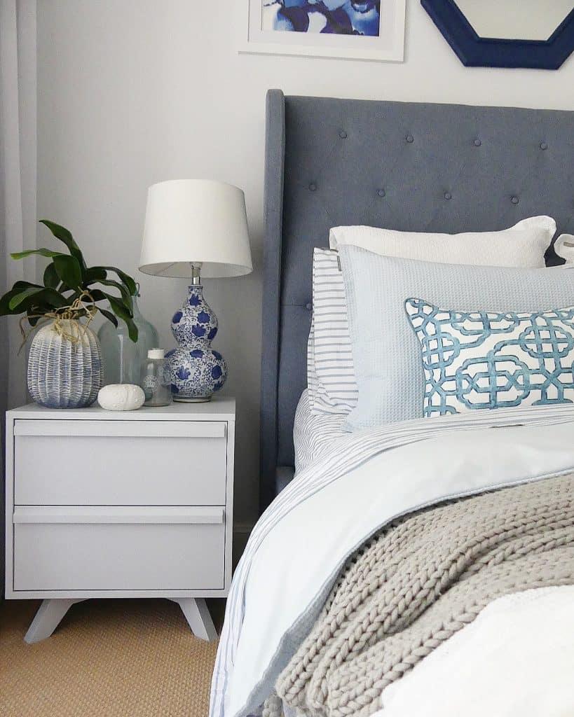 guest bedroom bedside table details