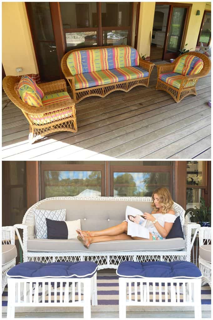 services page diy upcycling outdoor lounge before and after