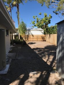 Tewantin back exterior - bulldozed the backyard ready for new turf