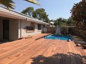 Tewantin back exterior - timber deck progress
