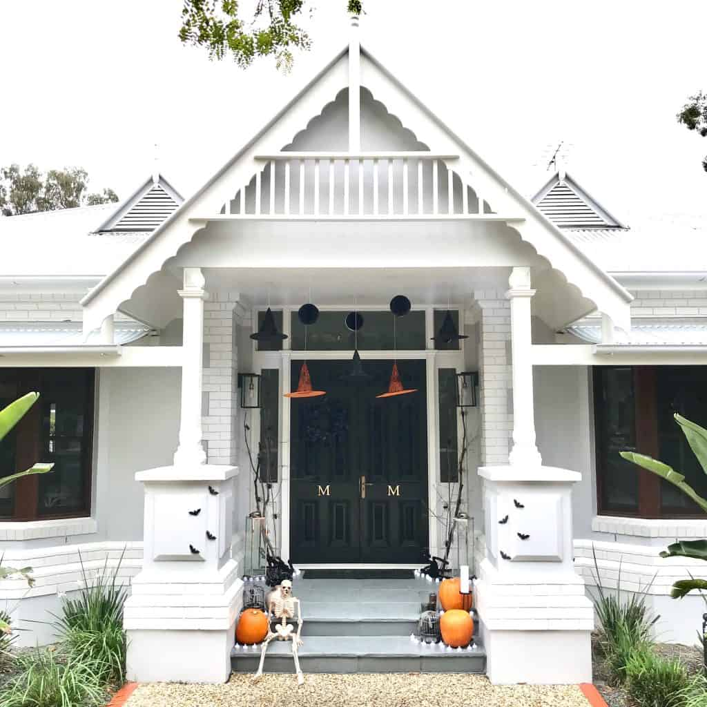 halloween styling - front entrance