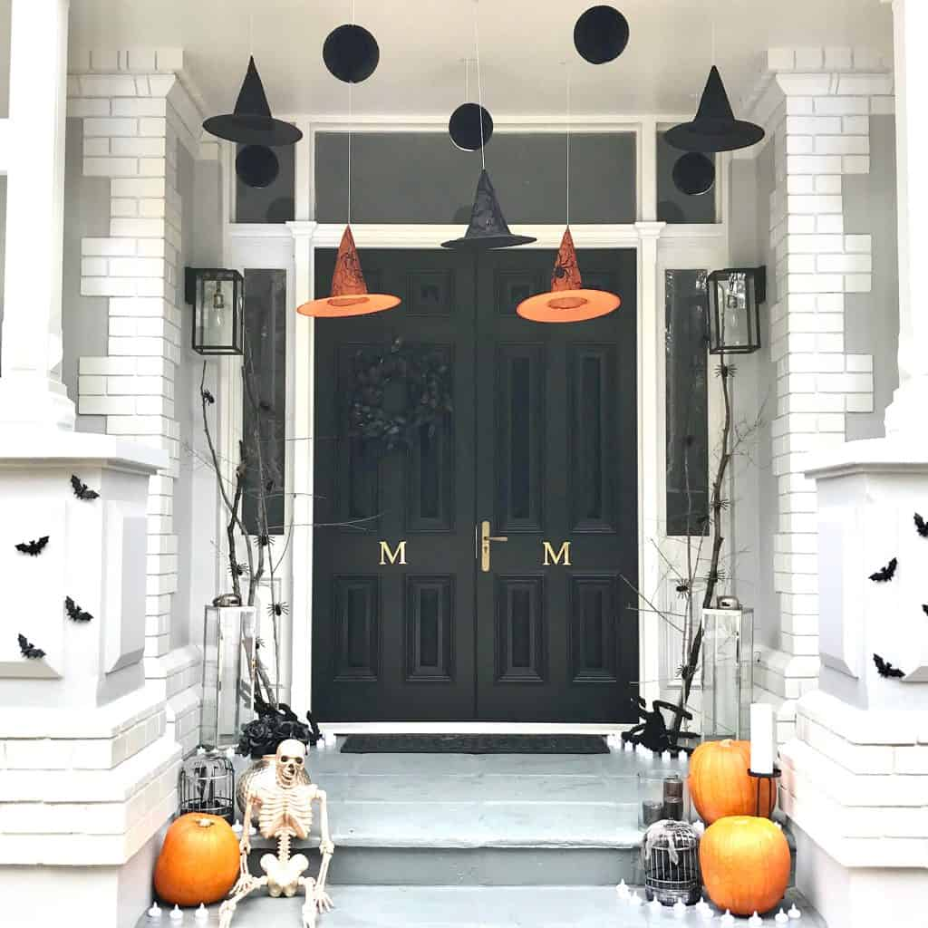 halloween styling - close up front entrance
