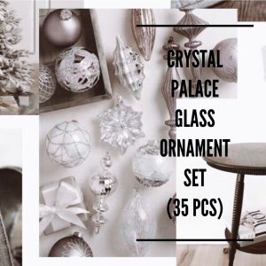 Balsalm Hill Christmas Home Tour Crystal Palace Glass Ornament Set