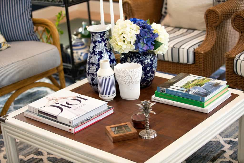 Tanawha formal lounge after renovation - coffee table details