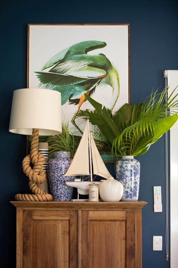 Tanawha formal lounge after renovation -cupboard decor and lamp shades art