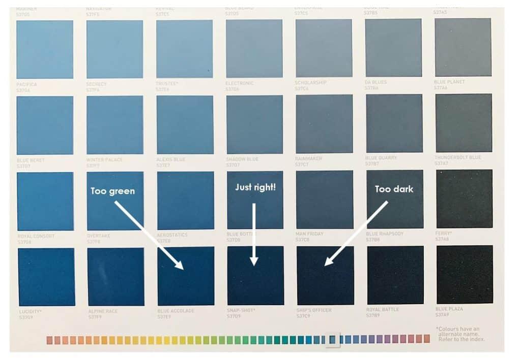 Tanawha formal lounge - colour selection